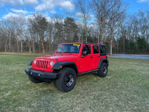 2013 Jeep Wrangler Unlimited for sale at Fournier Auto and Truck Sales in Rehoboth MA