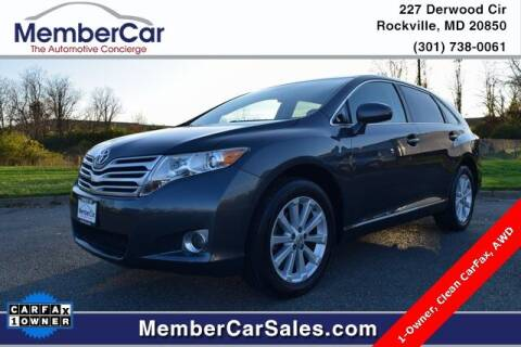 2011 Toyota Venza for sale at MemberCar in Rockville MD