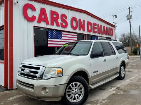 2008 Ford Expedition EL for sale at Cars On Demand 3 in Pasadena TX