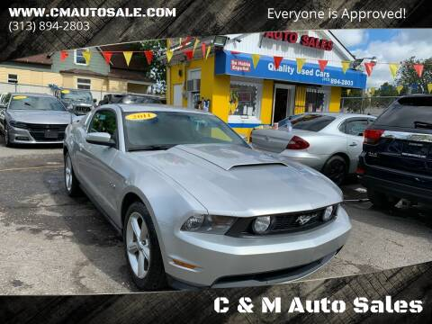 2011 Ford Mustang for sale at C & M Auto Sales in Detroit MI