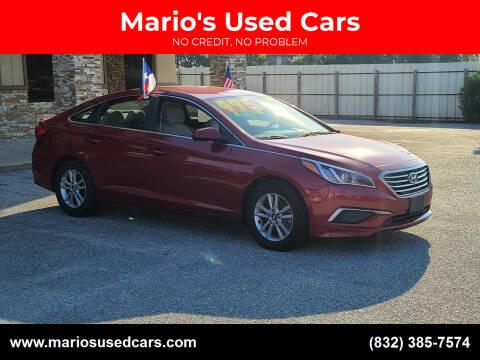 2016 Hyundai Sonata for sale at Mario's Used Cars - Pasadena Location in Pasadena TX