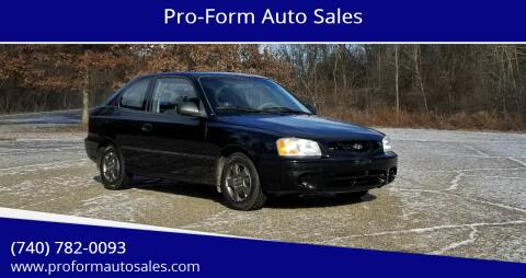 2002 Hyundai Accent for sale at Pro-Form Auto Sales in Belmont OH