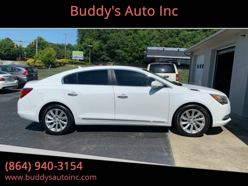 2014 Buick LaCrosse for sale at Buddy's Auto Inc in Pendleton, SC