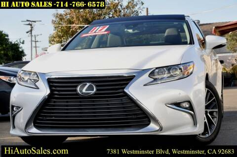 lexus es 350 for sale in westminster ca hi auto sales lexus es 350 for sale in westminster