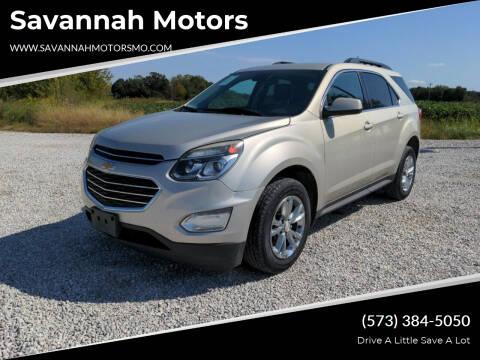 2016 Chevrolet Equinox for sale at Savannah Motors in Elsberry MO