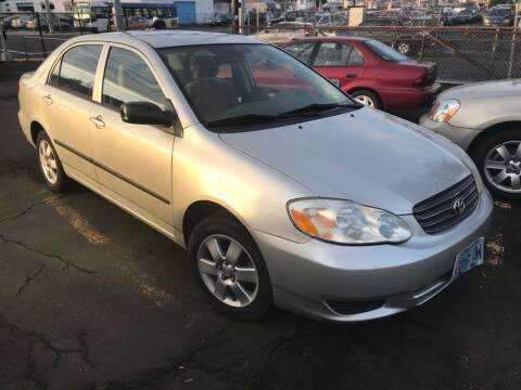2003 Toyota Corolla for sale at Chuck Wise Motors in Portland OR