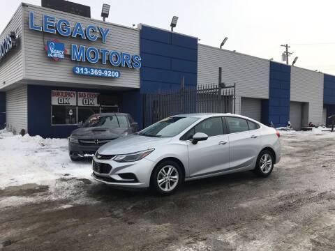 2018 Chevrolet Cruze for sale at Legacy Motors in Detroit MI