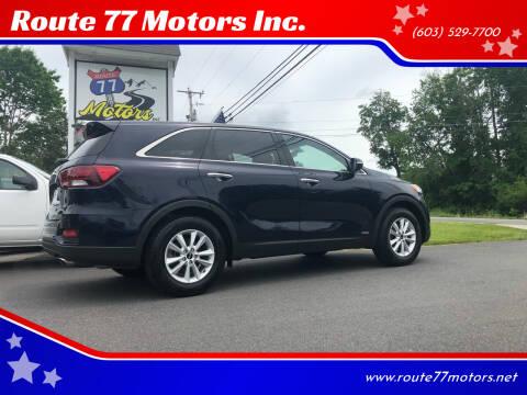 2020 Kia Sorento for sale at Route 77 Motors Inc. in Weare NH