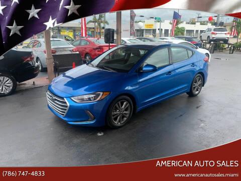 2018 Hyundai Elantra for sale at American Auto Sales in Hialeah FL