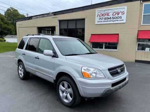 2004 Honda Pilot for sale at I-Deal Cars LLC in York PA