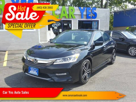 2016 Honda Accord for sale at Car Yes Auto Sales in Baltimore MD