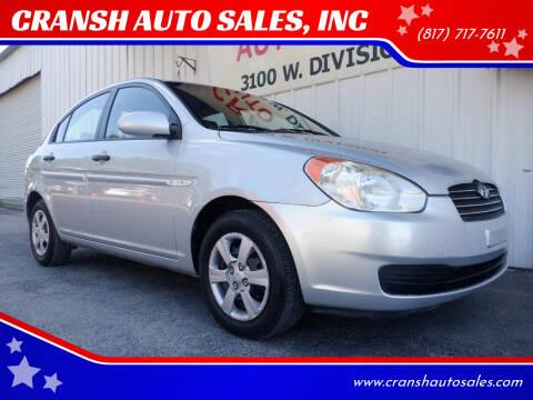 2007 Hyundai Accent for sale at CRANSH AUTO SALES, INC in Arlington TX