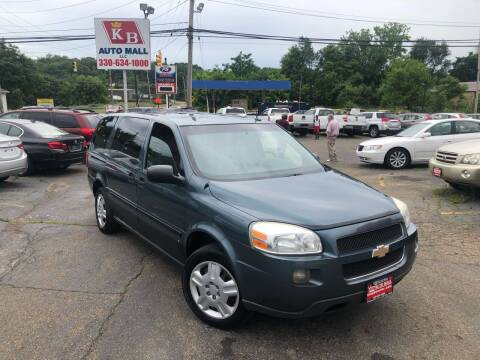 2006 Chevrolet Uplander for sale at KB Auto Mall LLC in Akron OH
