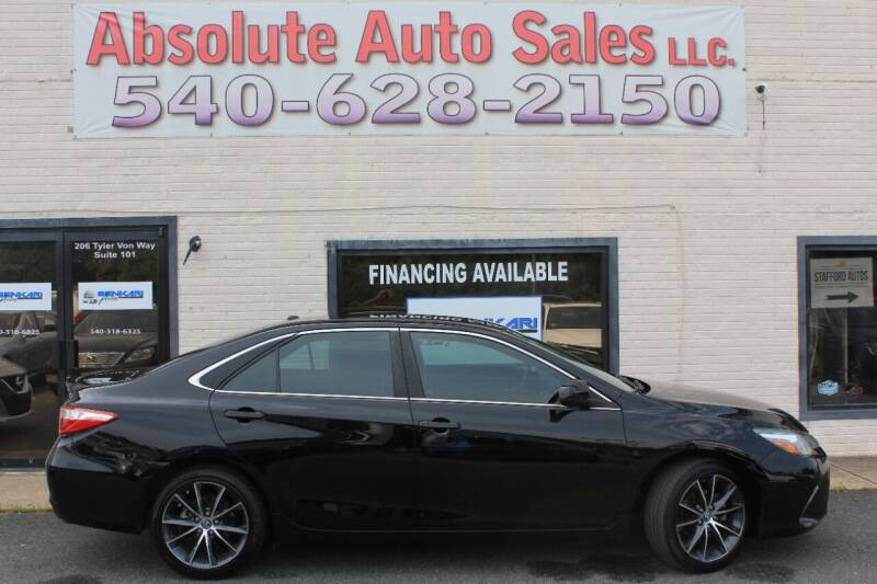 2015 Toyota Camry for sale at Absolute Auto Sales in Fredericksburg VA