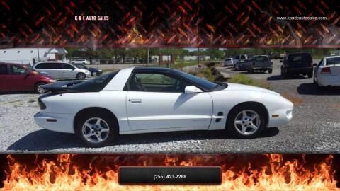 1999 Pontiac Firebird for sale at K & E Auto Sales in Ardmore AL