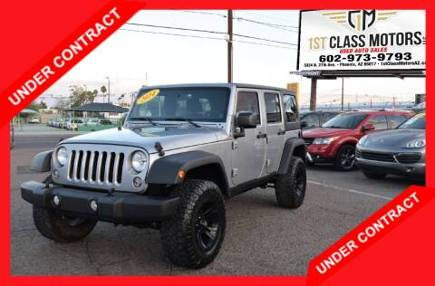 2014 Jeep Wrangler Unlimited for sale at 1st Class Motors in Phoenix AZ