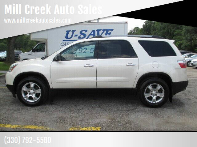 2012 GMC Acadia for sale at Mill Creek Auto Sales in Youngstown OH