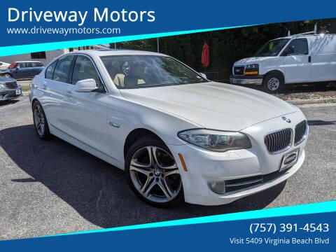 2011 BMW 5 Series for sale at Driveway Motors in Virginia Beach VA