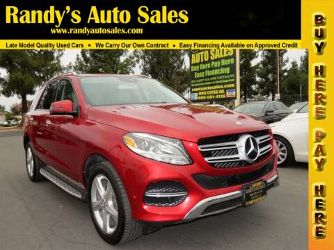 2017 Mercedes-Benz GLE for sale at Randy's Auto Sales in Ontario CA