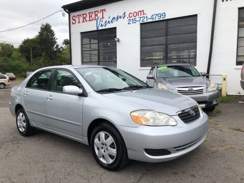 2008 Toyota Corolla for sale at Street Visions in Telford PA