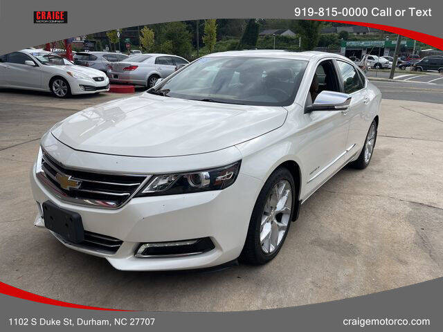 2014 Chevrolet Impala for sale at CRAIGE MOTOR CO in Durham NC