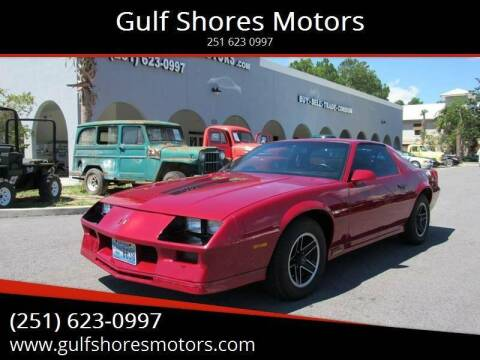 1984 Chevrolet Camaro for sale at Gulf Shores Motors in Gulf Shores AL