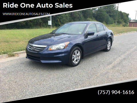 2011 Honda Accord for sale at Ride One Auto Sales in Norfolk VA