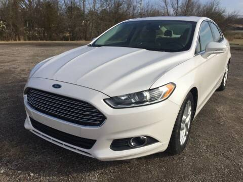 2013 Ford Fusion for sale at McAllister's Auto Sales LLC in Van Buren AR