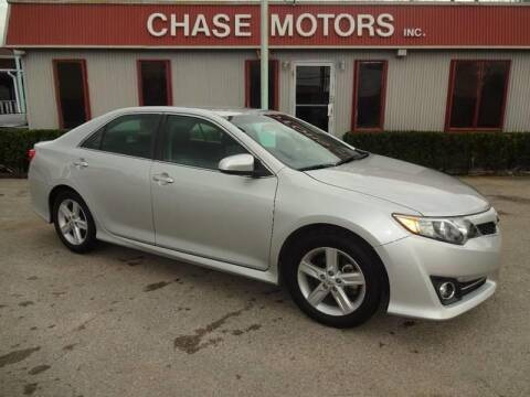 2012 Toyota Camry for sale at Chase Motors Inc in Stafford TX