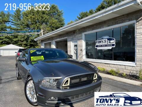 2013 Ford Mustang for sale at Tonys Auto Sales Inc in Wheatfield IN