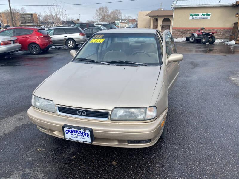 1996 Infiniti G20 for sale at Creekside Auto Sales in Pocatello ID