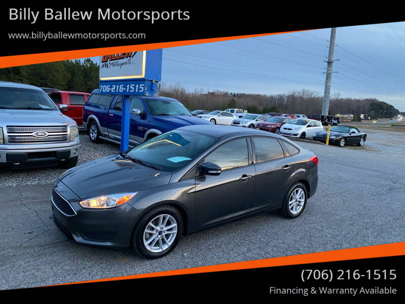 2017 Ford Focus for sale at Billy Ballew Motorsports in Dawsonville GA