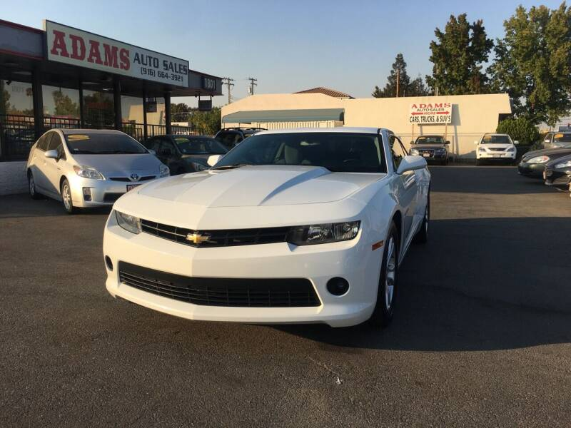 2014 Chevrolet Camaro for sale at Adams Auto Sales in Sacramento CA