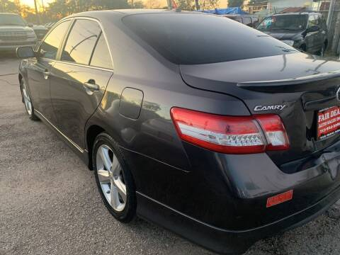 2011 Toyota Camry for sale at FAIR DEAL AUTO SALES INC in Houston TX