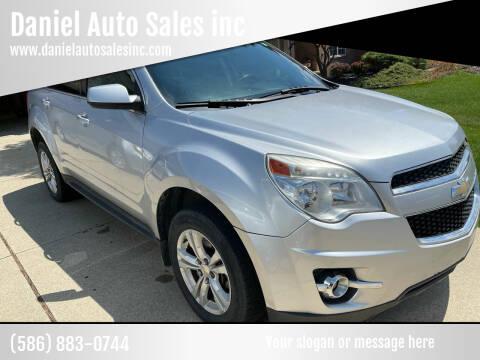 2012 Chevrolet Equinox for sale at Daniel Auto Sales inc in Clinton Township MI