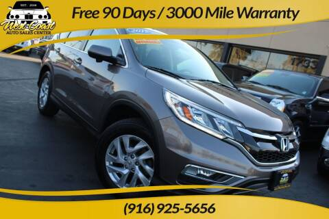 2015 Honda CR-V for sale at West Coast Auto Sales Center in Sacramento CA