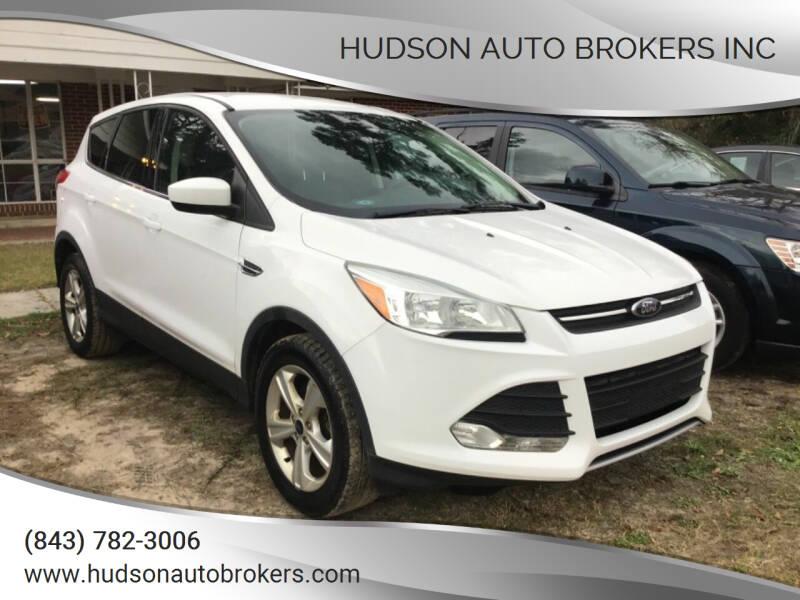 2016 Ford Escape for sale at HUDSON AUTO BROKERS INC in Walterboro SC