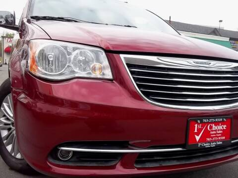2014 Chrysler Town and Country for sale at 1st Choice Auto Sales in Fairfax VA