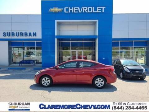 2016 Hyundai Elantra for sale at Suburban Chevrolet in Claremore OK