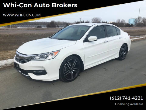 2017 Honda Accord for sale at Whi-Con Auto Brokers in Shakopee MN