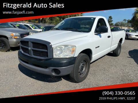 2008 Dodge Ram Pickup 1500 for sale at Fitzgerald Auto Sales in Jacksonville FL