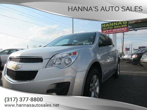 2012 Chevrolet Equinox for sale at Hanna's Auto Sales in Indianapolis IN