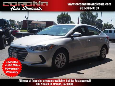2017 Hyundai Elantra for sale at Corona Auto Wholesale in Corona CA
