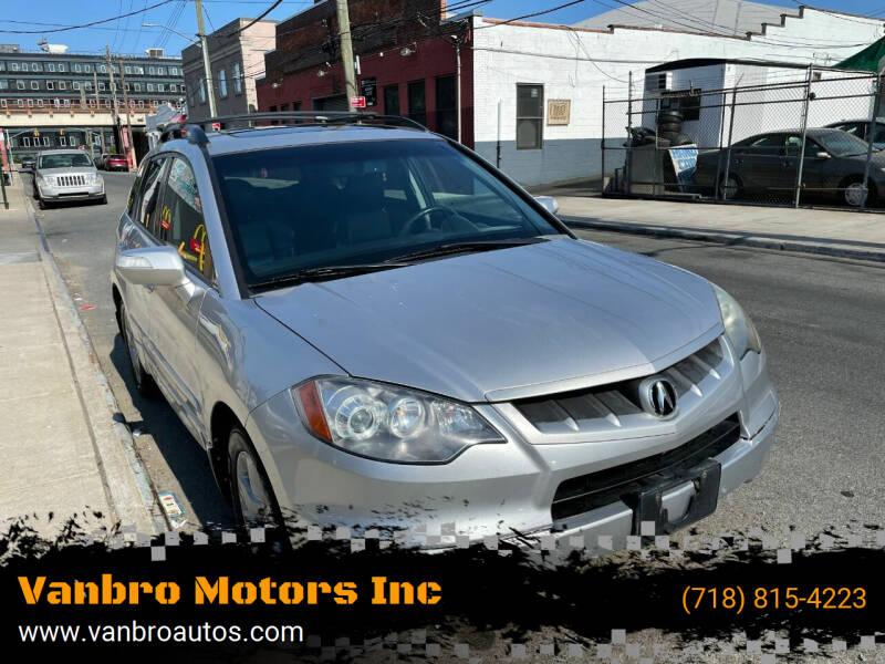 2008 Acura RDX for sale at Vanbro Motors Inc in Staten Island NY