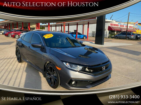 2020 Honda Civic for sale at Auto Selection of Houston in Houston TX