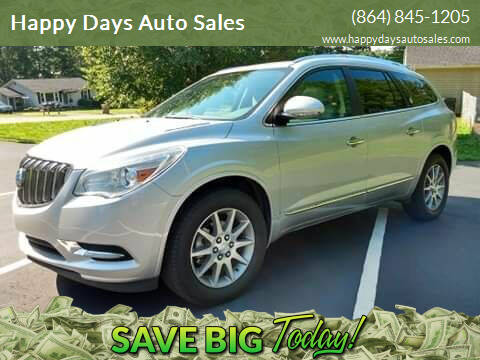 2016 Buick Enclave for sale at Happy Days Auto Sales in Piedmont SC