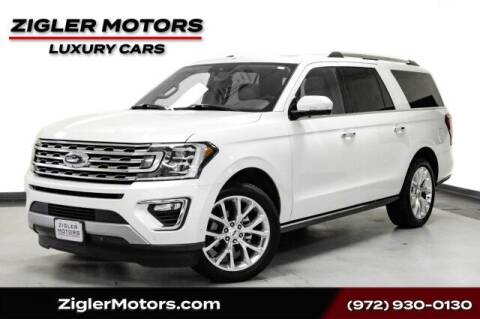 2018 Ford Expedition MAX for sale at Zigler Motors in Addison TX