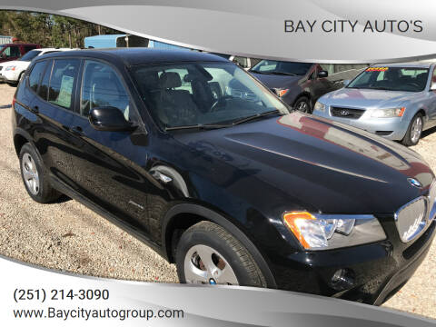 2011 BMW X3 for sale at Bay City Auto's in Mobile AL