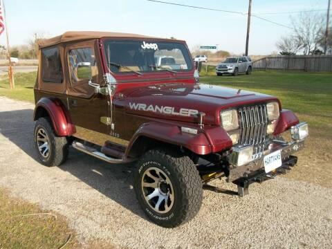 1988 Jeep Wrangler for sale at Hartman's Auto Sales in Victoria TX