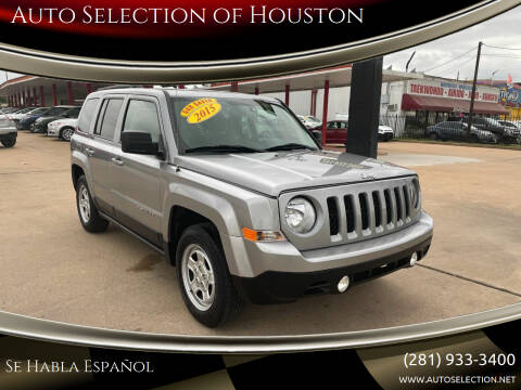 2015 Jeep Patriot for sale at Auto Selection of Houston in Houston TX